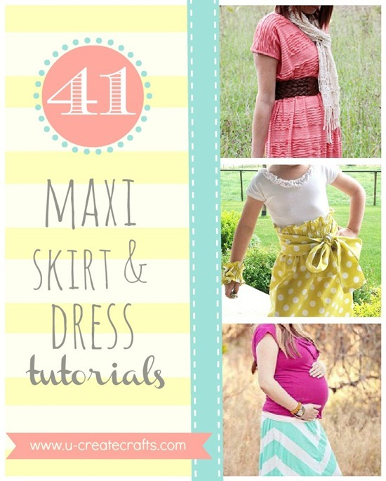 41 Amazing Maxi Skirt and Dress Tutorials - free patterns!