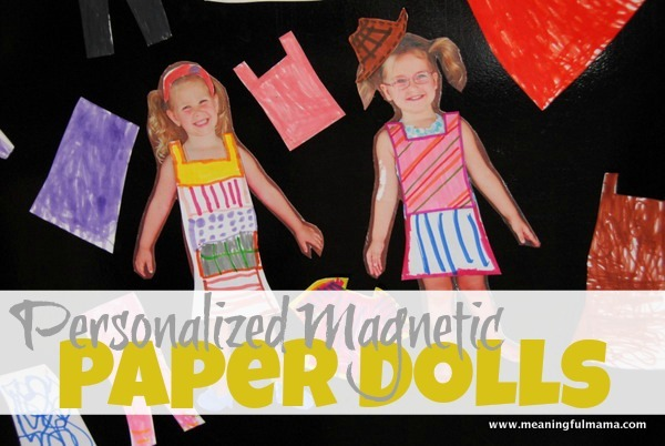Personalized 252520Magnetic 252520Paper 252520Dolls 252520from 252520Child 252527s 252520Picture Thumb