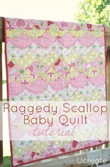 Raggedy Scallop Quilt Tutorial by Ucreate