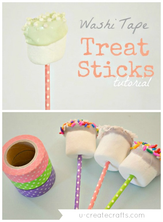 DIY Washi Tape Treat Sticks - so simple!!