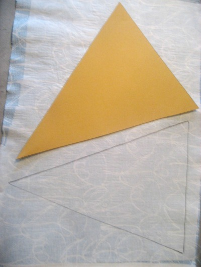 bunting tablecloth triangles