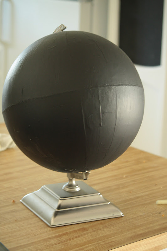 chalkboard paint globe tutorial