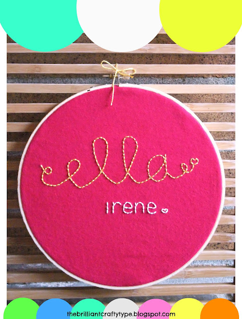 embroidery hoop name art tutorial