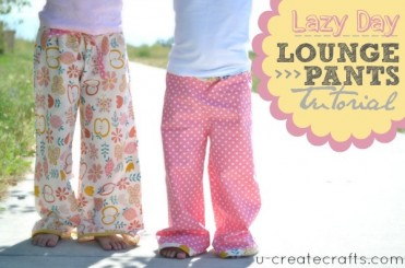 Lazy Day Lounge Pants Tutorial