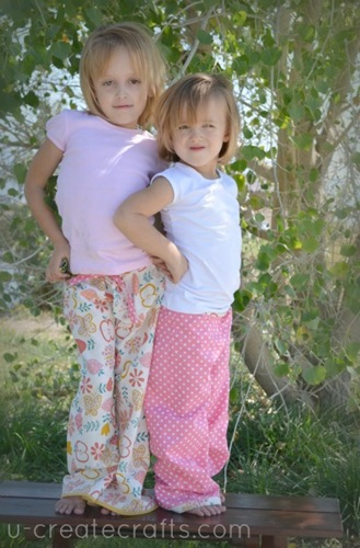 Lazy Day Lounging Pants Tutorial Models