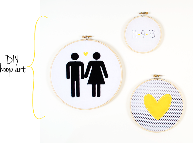 DIY Hoop Art Tutorial at Silhouette Blog