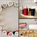 Embroidery Hoop Thread Rack Tutorial