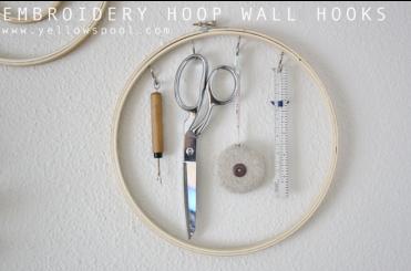 DIY Embroidery Hoop Wall Hooks