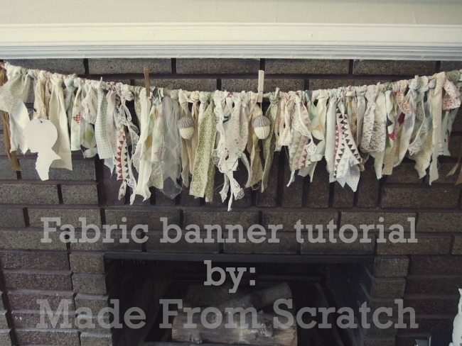Fabric Banner Tutorial By Made From Scratch U Create