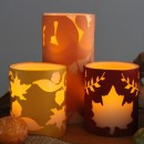 Fall Candle Wrap Tutorial