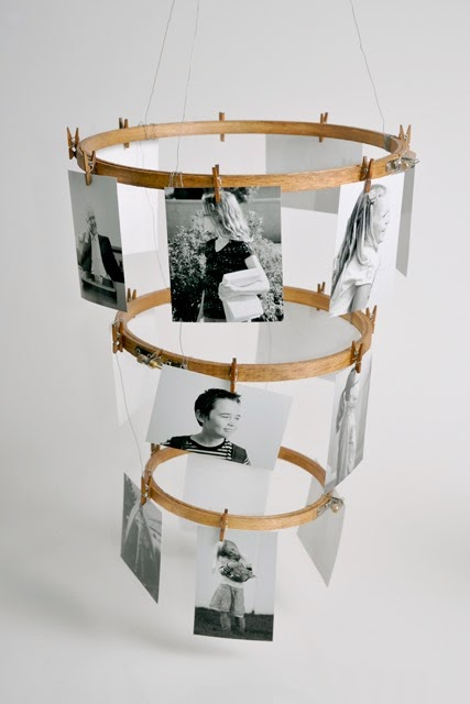 diy photo hoop display
