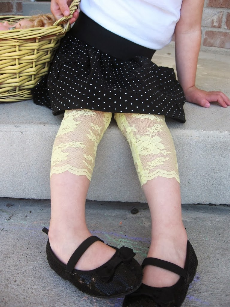 diy lace leggings