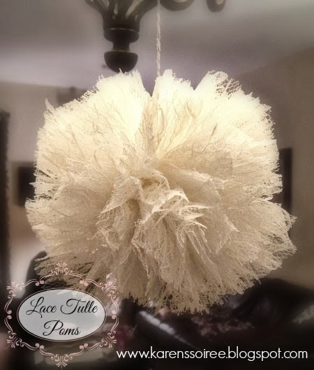 Lace Tulle Pom Tutorial