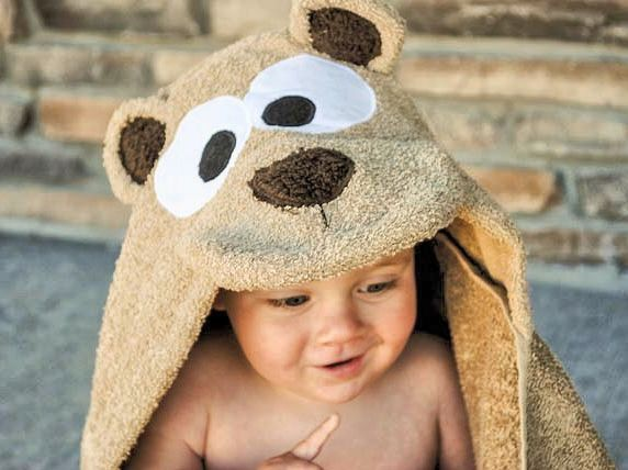 DIY Baby Hooded Bear Towel