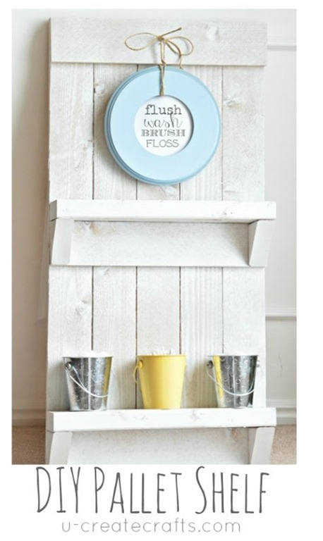 DIY Pallet Bathroom Shelf by U Create