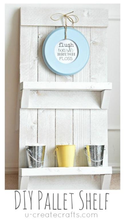 DIY Pallet Bathroom Shelf by U Create