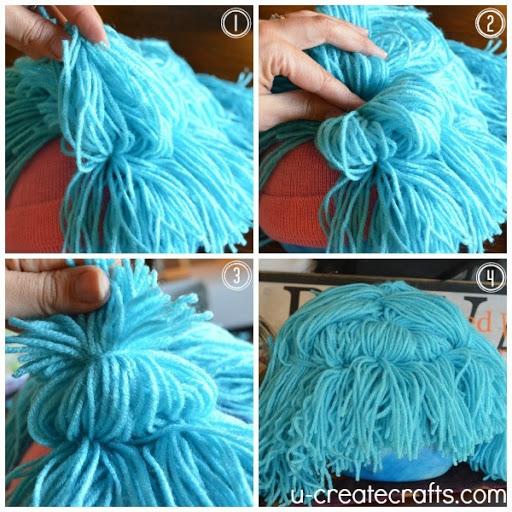 DIY Yarn Wig Tutorial 13