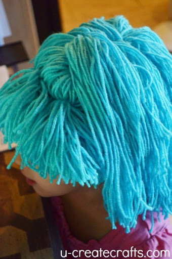 DIY Yarn Wig Tutorial Finished