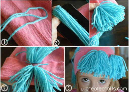 DIY Yarn Wig Tutorial 8