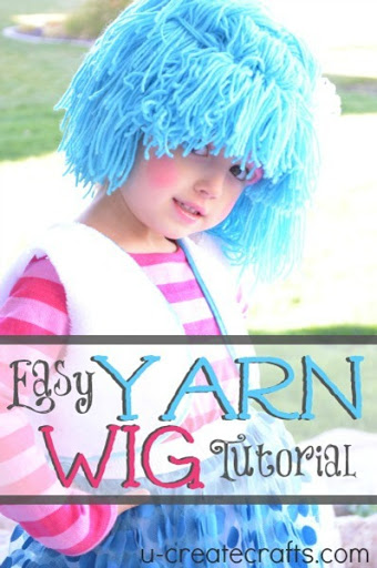 DIY Yarn Wig Tutorial at U-createcrafts.com