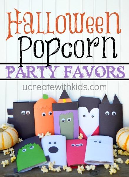 Halloween Popcorn Party Favors Tutorial (free template) - U Create