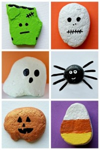 Halloween Rock Painting Craft