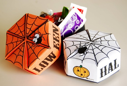 Printable Halloween Origami Boxes