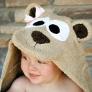 Hooded Bear Towel Tutorial by Crazy Little Projects