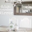 DIY Distressed Mirror Tutorial by Kris Kraft