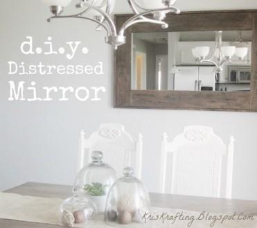 DIY Distressed Mirror Tutorial by Kris Kraft