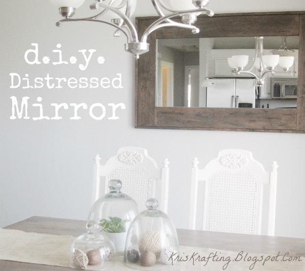 DIY Distressed Mirror - U Create