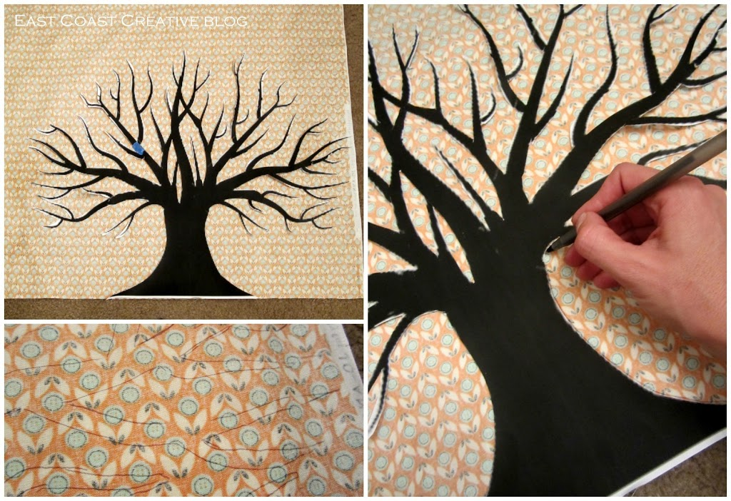DIY Fabric Thankful Tree Canvas - U Create