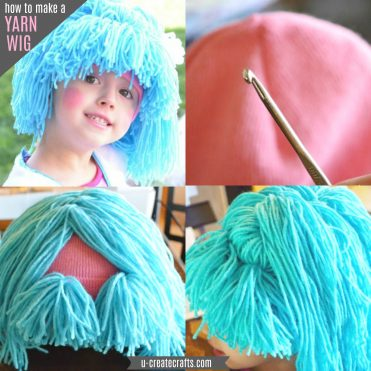 How to make a yarn wig for Halloween costumes!