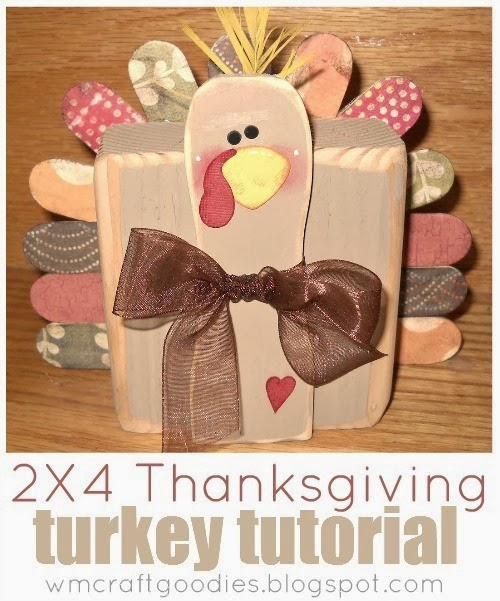 2x4 Thanksgiving Turkey by Craft Goodies