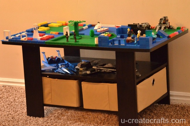 Turn A Coffee Table Into A Lego Table U Create