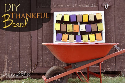 DIY Thankful Board