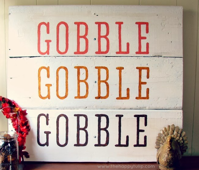 DIY Gobble Sign by The Happy Tulip