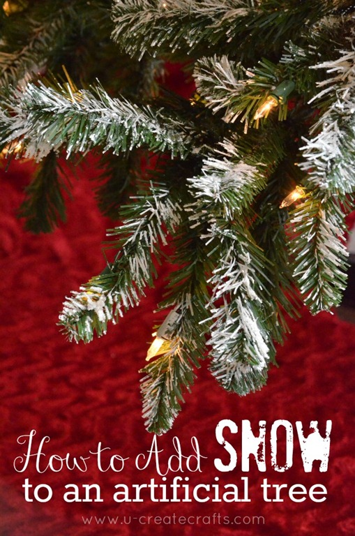 How To Add Snow An Artificial Tree