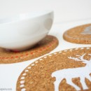 DIY Holiday Cork Trivets