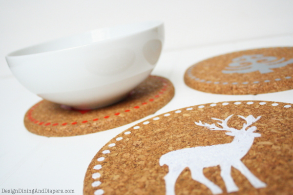diy holiday cork trivets u create
