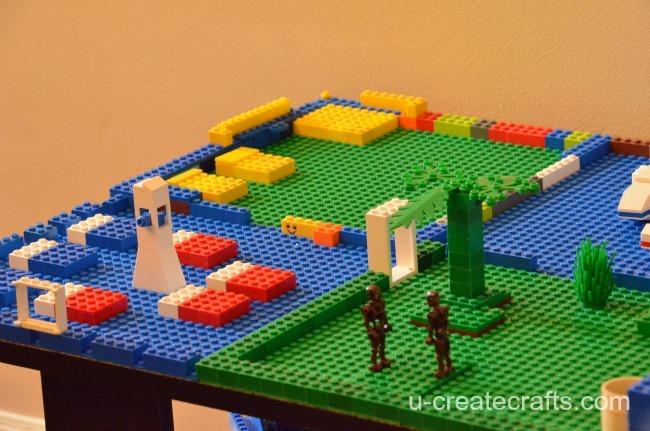 DIY Lego Table from a coffee table - u-createcrafts.com