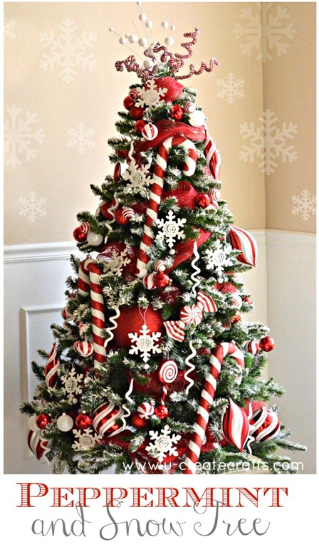 peppermint christmas tree theme by ucreate classic - Michaels Christmas Decorations