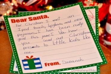 Free Printable - Letter to Santa