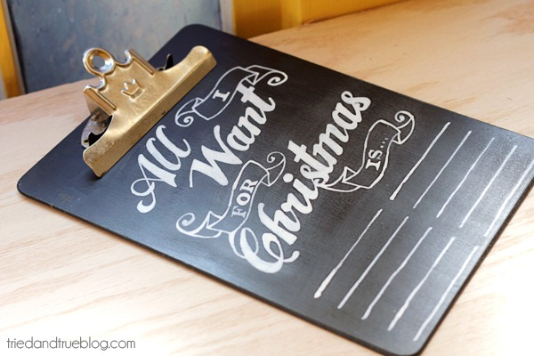 Chalkboard Wishlist Tutorial by Tried and True Blog