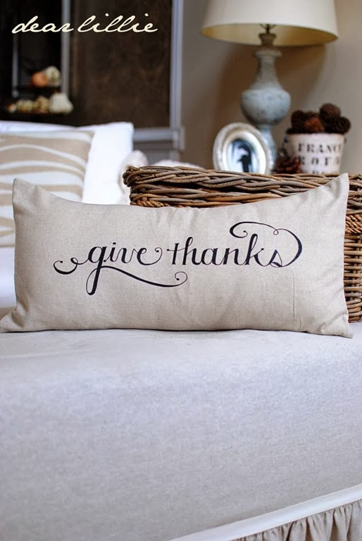 Give Thanks Pillow by Dear Lillie