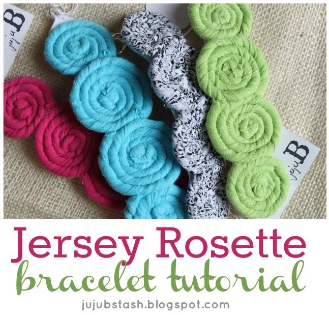 Jersey Rosette Bracelet Tutorial