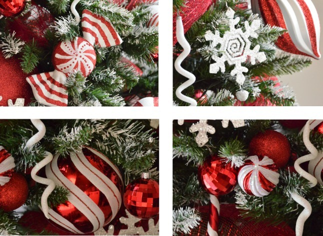 peppermint christmas tree ornaments u createcraftscom - Candy Ornaments For Christmas Tree
