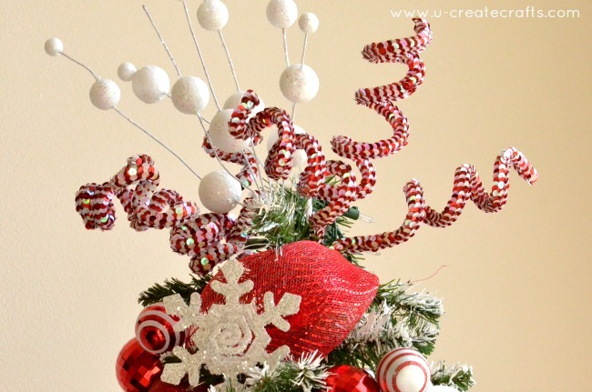 peppermint christmas tree topper by u create