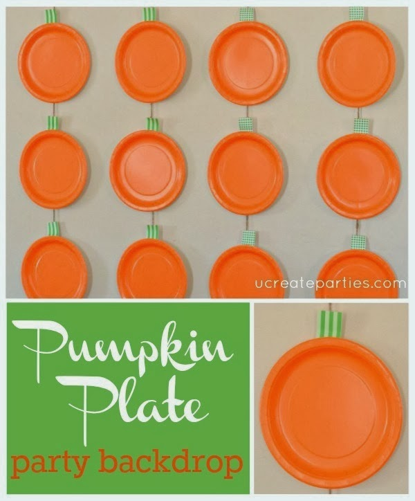 Pumpkin Backdrop for Parties or Thanksgiving
