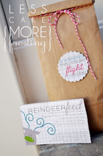 Free Reindeer Feed Printable by Less Cake More Frosting